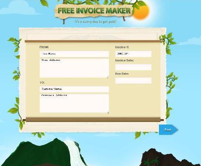 ساخت فاکتور به زبان انگلیسی free invoice maker